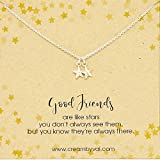 Good Friends Stars Sterling Silver Necklace 18'' Length