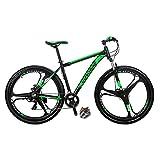 Eurobike Bikes HYX9 Aluminum Frame Mountain Bike 29 Inch 3 Spoke Wheels 21 Speed Bicycle Blackgreen