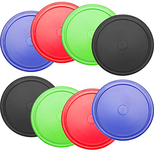 8 Pieces Air Hockey Pucks Replacement Round Pucks for Game Tables, Equipment, Accessories,7 Grams