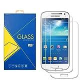 [2 Pack] Protector Cristal Vidrio Templado Samsung Galaxy S4 GT-i9500 / i9505 / i9506 / 9500 / 9505 / 9506 – Pantalla Antigolpes y Resistente al Rayado