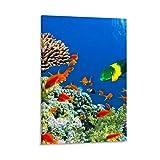 YRTW Póster de paisaje natural de 5 acuarios, decoración para sala de estar, dormitorio, lienzo, impresión artística para pared del hogar, 30 x 45 cm