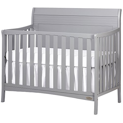 Best Deals! Dream On Me Bailey 5-in-1 Convertible Crib, Dove Grey