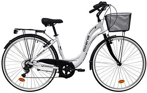 giordanoshop Bicicletta da Donna 28' 7V Denver City 3000 Bianca