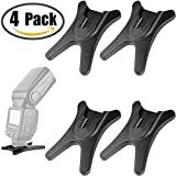 Anwenk Camera Flash Stand Flash Speedlight Hot Shoe Mount Stand with 1/4' Metal Tripod Thread for Flash Speedlight Speedlite Canon Nikon Sigma Olympus Panasonic Pentax 4 Pack