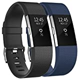 Tobfit Fitbit Charge 2 Bracelet Sangle Réglables Sport Accessorie Replacement Band pour Fitbit Charge 2 Fitness Wristband...