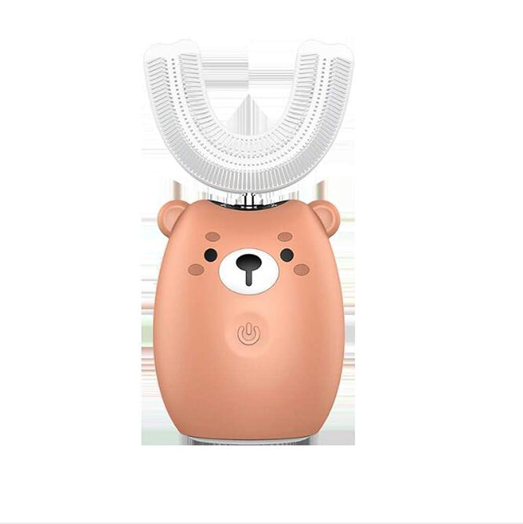 ミケランジェロする観客U型電動歯ブラシ充電式防水ソニック自動歯ブラシ2-12歳、幼児の柔らかい髪のデザインや子供のために適しました,ブラウン