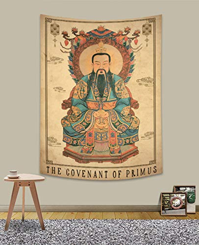 UHOMETAP Tarot Cards Tapestry, Retro Tapestry Chinese Mythical Tapestry The Covenant of Primus Fabric Wall Hanging Decor for Bedroom Living Room Dorm 40 x 60 Inches GTWYUH279