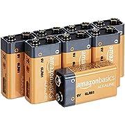 AmazonBasics 9 Volt Everyday Alkaline Battery - Pack of 8