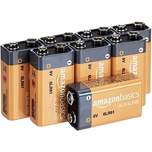 AmazonBasics - Batterie alcaline per uso quotidiano, 9V, confezione da 8 (l'aspetto potrebbe variare dall'immagine)