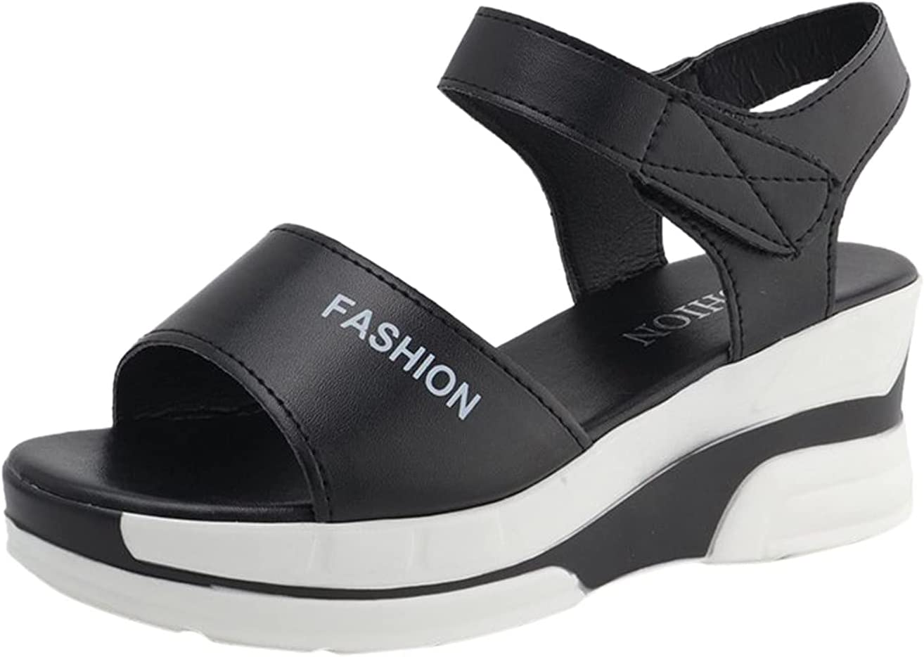PLENTOP Summer Special price for a limited time Platform Open Toe Fish Mouth Ranking TOP6 Thick Sandals Bottom