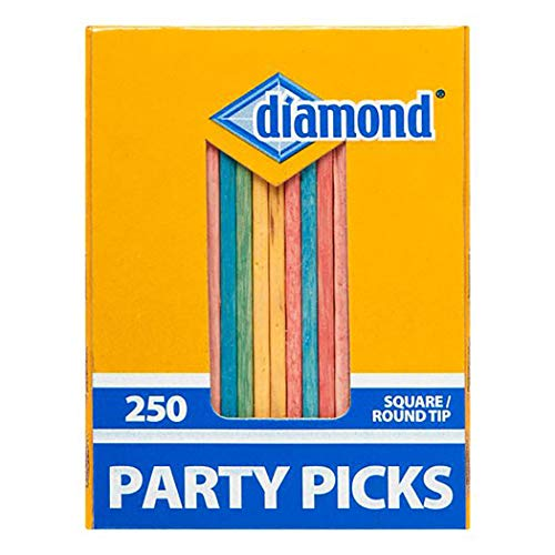 Diamond Round Colored Party Toothpicks