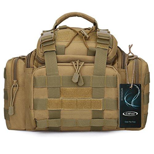 G4Free Tactical Hüfttasche 3 Way Militär Molle Angriffs-Pouch Multifunktional Trekking Wandern Bum Gesäßtasche Tragetaschen