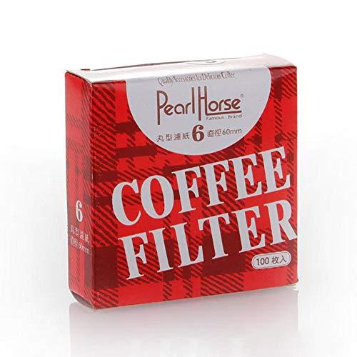 thorityau Runder Kaffeefilterpapier,60mm Durchmesser Runder Kaffeefilterpapier Für Moka Pot Large Zubehör Köstliche Kaffeemaschine