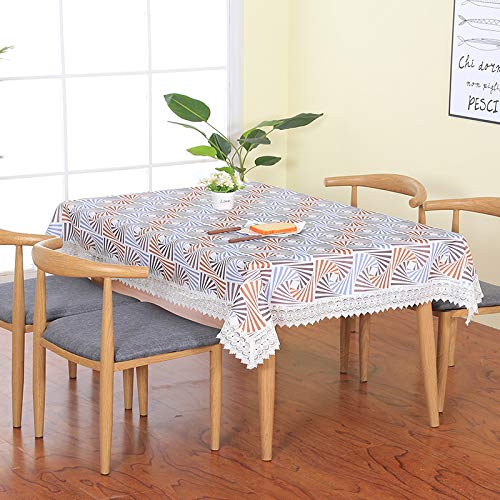 WSJIABIN Home Decor Tablecloth Fabric Cotton Linen Nordic Style Desk Mat Coffee Table Restaurant Tablecloth Rectangle