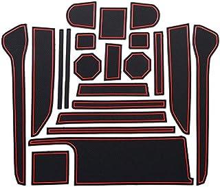 スズキSUZUKI ワゴンR/ワゴンR スティングレー (MH35S/55S/GS2045)WAGON R/STINGRAY ラバーマット ポケットマット セレナ 室内 内装 ドレスアップ アクセサリー カ収納スペース保護 (年式:H29.2~) (レッド)