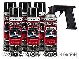 Beschichtungsfarbe Spraydose von HERCULINER in schwarz 6 x 440ml