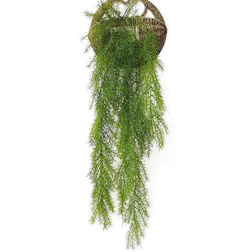 NewZC Künstliche Efeugirlande Gefälschte Hängepflanze 2 STÜCKE Künstliche Schlepppflanzen Kunststoff Löwenmaul Grün Efeugirlande für Hochzeit Wand Draussen Hängen Pflanzer Zaun Spalier - Grün
