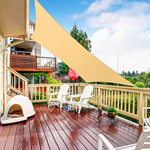 RATEL Toldo Vela de Sombra Rectangular Arena 4 × 6 m, protección 95% UV y Transpirable Impermeable, para Jardín, Patio, Exteriores, Pergola Decking