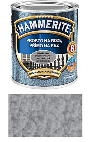 Hammerite Metallschutz-lack Lack Rostschutz 2,5 l Hammerschlag (Hammerschlag Silber-Grau)