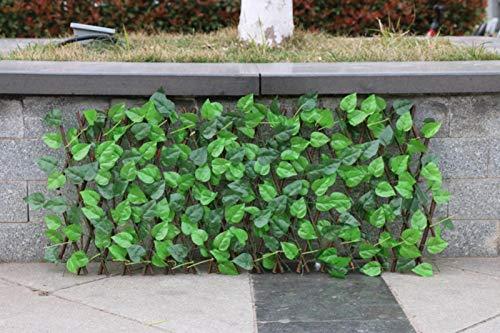 PIGMAMA Künstliche Hecke, erweiterbarer Zaun, Sichtschutz, dekorativer Zaun für Außen- und Innenbereich, Garten, Hinterhof, Zuhause