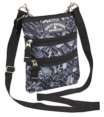 Harley Davidson (cross X-body Slings Grey Tattoo, One Size