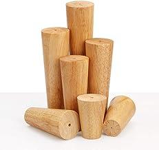 Furniture Legs meubelpoten van hout, conisch, sofvoeten, massief hout, meubelpoten, 8-40 cm, met montagetoebehoren