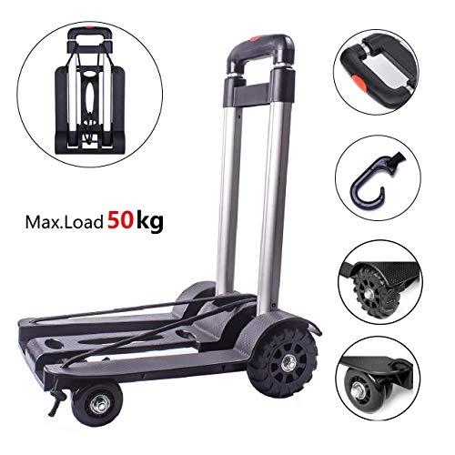 Diable Chariot Pliable à main Capacité 50 kg, Chariot...
