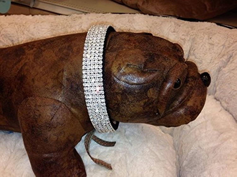 Blinged Out Pets Black Rhinestone Dog Collar Fits Neck Sizes 1526  (1518 Inch Necks)