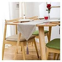 ホームダイニングのテーブル ランナー、家の装飾 Table Mat レース表ランナーヨーロッパの亜麻からホームリネンテーブルランナー手作り、結婚式/ブライダルパーティー/素朴なイベントのためにマシンウォッシャブルクラシックテーブルランナー 美しく、リラックスできる住まい LLNN (Color : Beige, Size : 30*240cm)