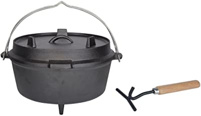 "Esschert Design Dutch Oven, 12"", Black"