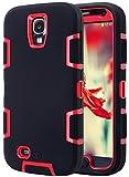 ULAK S4 Coque,Galaxy S4 Coque, Housse Étui Hybride Couche 3 en Silicone et PC Rigide...