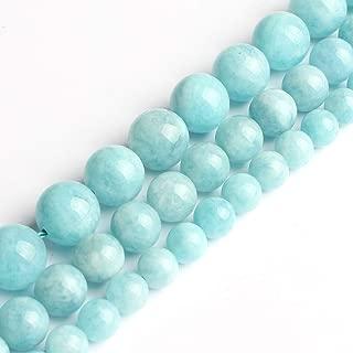 Love Beads 8mm Aquamarine Round Stone Beads for Jewelry Making 15inch Beads