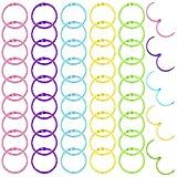 WXJ13 50 anillos de metal para encuadernación de libros, llaveros coloridos, hojas sueltas, 5 colores