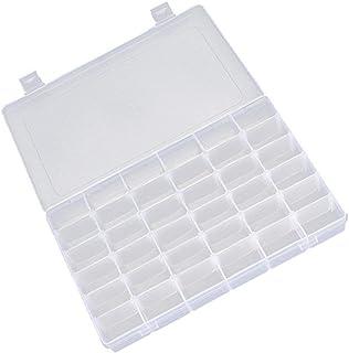 Lyanther 15/24/36 - Caja organizadora de joyería transparente y ajustable