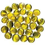 Glorex Glasnuggets 200 g, 20 mm, Glas, Gelb, 12 x 6 x 4.5 cm