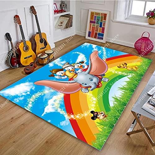 LGXINGLIyidian Alfombra De Dibujos Animados De Disney Mickey Y Minnie Mouse Tapete para Puerta Niños Niños Niñas Juego Alfombra Dormitorio Cocina Alfombra Alfombra De Baño Interior V-797M 120X180Cm