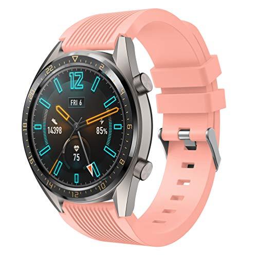 HappyTop - Correa de Silicona de Repuesto para Reloj Deportivo Huawei Watch GT para Adultos, Unisex, Color Rosa, Moda