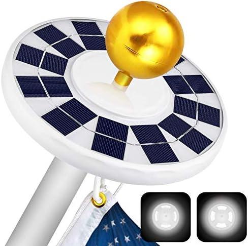 ffresiss Solar Flag Pole Light 128 LED Flagpole Lights with 2 Models Brightness 2500mAh Rechargeable product image