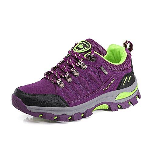LILY999 Scarpe da Trekking Uomo Donna Scarpe Basse da Escursionismo Arrampicata Sportive All'aperto Sneakers(Viola,38 EU)