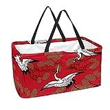 La bolsa de asas reutilizable del ultramarinos, cesta de compras grande, modelo del bolso del almacenamiento 50L de la grúa