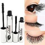 Tiikii DDK 4D Silk Fiber Lash Mascara for Eyelash Extension Crazy-long Black Grow