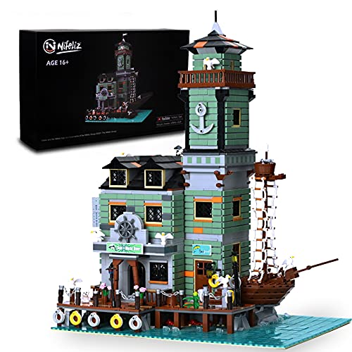 NifelizFishing Village Boat House Diner MOC Building Blocks kit - Construction Set to Build, Model Set and Assembly Toy for Teens and Adult,New 2021(3545Pcs)