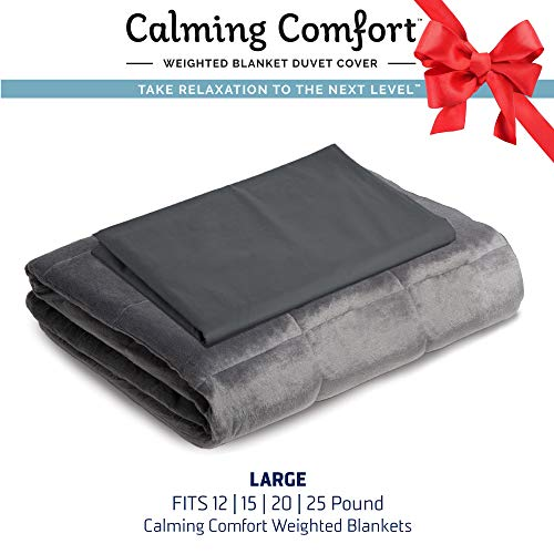 """Calming Comfort by Sharper Image Weighted Blanket Duvet Cover 