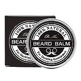 Bálsamo para barba, enriquecido con aceite de jojoba y manteca de cacao para hidratar y nutrir la piel y la barba, Producto 100% natural, Disciplina la barba para darle brillo y suavidad