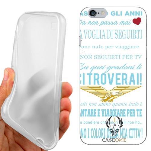Custodia Cover Case Coro Ultras Lazio Bianca per iPhone 6 4.7 Pollici