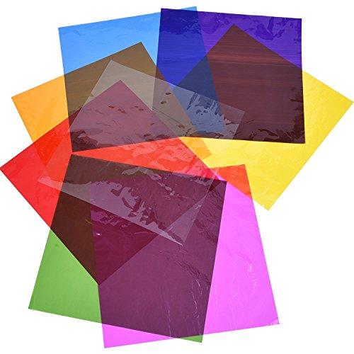 Outus 104 Pieces Cello Sheets Cellophane Wraps for Gel Light Filter Plastic Sheet(Multicolor, 7.5 x 7.5 Inch)