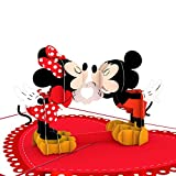 Lovepop Disney Mickey & Minnie Heart-to-Heart Pop Up Card - 3D Valentines Day Card, Pop Up Valentines Day Card, Romance Card, Pop Up Greeting Card, Card for Boyfriend, Card for Girlfriend, Disney Card