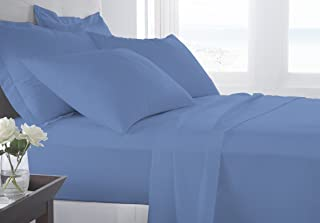 BED ALTER 1000 Thread Count 6 Piece Bed Sheet Set (1 Flat Sheet 1 Fitted Sheet And 4 Pillowcases) ( 18