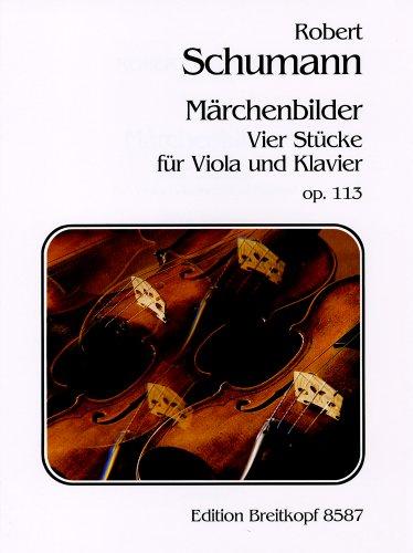シューマン : おとぎの絵本 Op.113/ブライトコップ & ヘルテル社/ピアノ伴奏付ビオラ・ソロ楽譜