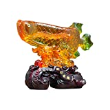 Decoración de escritorio Feng shui adornos riqueza peces de colores afortunado peces estatua figuril...
